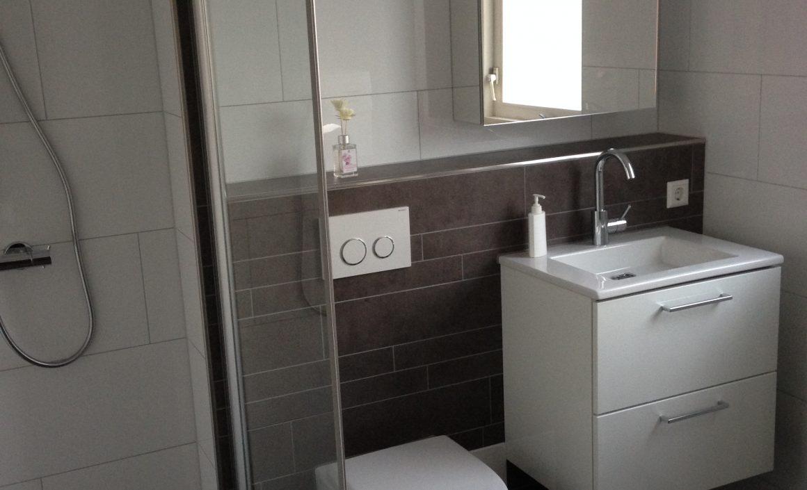 Vernieuwde badkamer